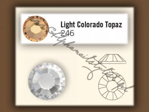 Cyrkonie SWAROVSKI ss10 - Light Colorado Topaz