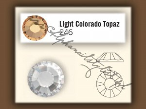 Cyrkonie SWAROVSKI ss6 - Light Colorado Topaz