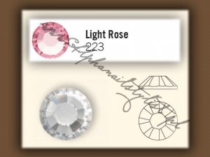 Cyrkonie SWAROVSKI ss10 - Light Rose
