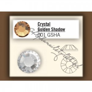 Cyrkonie SWAROVSKI ss3 - Crystal Golden Shadow