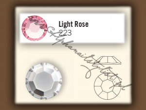 Cyrkonie SWAROVSKI ss3 - Light Rose